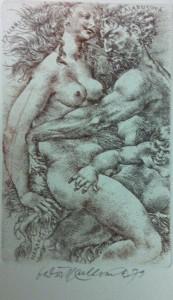 Oldřich Kulhánek Ex Libris Olga Kalabusová Herakles