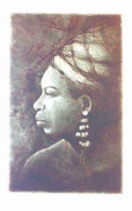 Tomáš Hřivnář prodej grafiky Nina Simone I 29_24cm