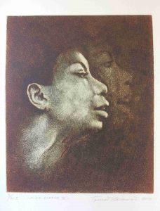 Tomáš Hřivnář prodej grafiky Nina Simone III_29_24cm
