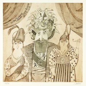 Adolf Born lept Portret sultana Mehmeda III z dilny Guiseppe Arcimbolda 43_44cm 2011