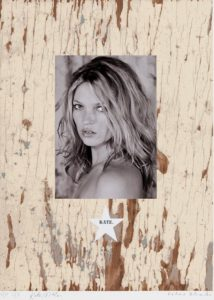 Peter Blake prodej Kate_75_58cm_2010_Ed 100 signed by Kate Moss
