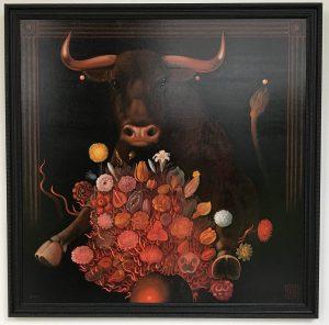 Lukáš Kándl prodej obrazu Pocta býkovi