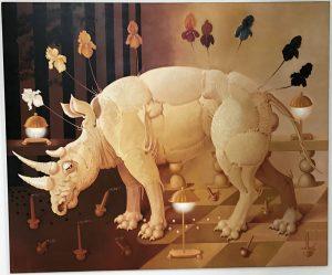 Lukáš Kándl prodej obrazu Setkání bílého nosorožce s tmou