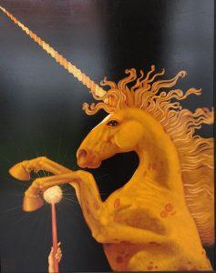 Lukáš Kándl prodej obrazu Zlatý jednorožec 162130cm