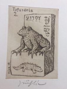 Jiří Slíva prodej obrazu Biblio 2 Tsfardeia 11_8cm