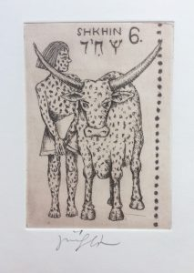 Jiří Slíva prodej obrazu Biblio 6 Býk 11_8cm