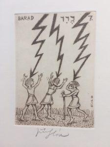Jiří Slíva prodej obrazu Biblio 7 Barad 11_8cm