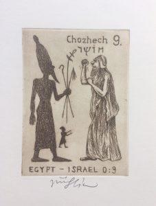 Jiří Slíva prodej obrazu Biblio 9 Egypt Izrael 11_8cm