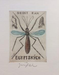 Jiří Slíva prodej obrazu Biblio Deset ran egyptských 11_8cm