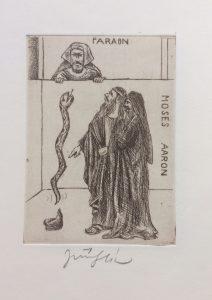 Jiří Slíva prodej obrazu Biblio Faraon Moses AAron 11_8cm
