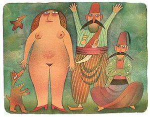 Adolf Born prodej barevné litografie Příjezd do harému 1996 39_49cm