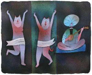 Adolf Born prodej litografie-Učitel tance 2011 44-54cm