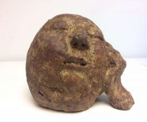 Hana Purkrábkové prodej sochy - pálená šamotová kamenina - Dřímá 2018 11-13-10cm
