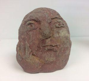 Hana Purkrábkové prodej sochy - pálená šamotová kamenina - Vážený 2018 10-10-8cm