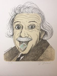 Jiří Slíva prodej litografie Post Einstein 32-27cm