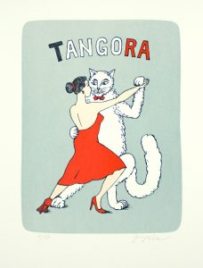 Jiří Slíva prodej litografie Tangora 43-32cm