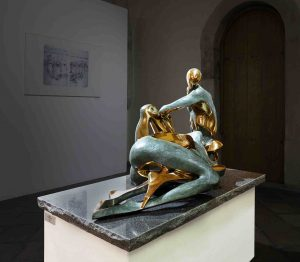Peter Nižňanský prodej bronzové sochy neha 1. 2002 120-100cm
