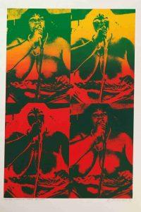 Eduard Ovčáček prodej obrazu Green Red Blues E 60-50cm 91-120