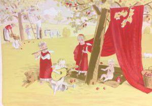 Jan Knap prodej obrazu barevná litografie Idylická zahrada 37-53cm