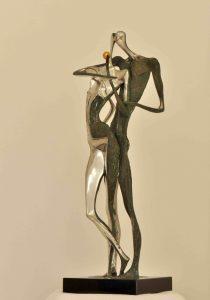 Peter Nižňanský prodej bronzové plastiky Adam a Eva 67cm