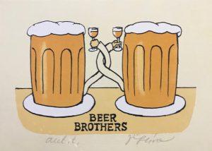 Jiří Slíva prodej obrazu Beer Brothers 16-19cm