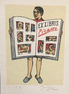 Jiří Slíva prodej obrazu Picasso Ex libris 16-5-12cm