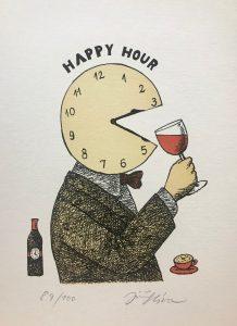 Jiří Slíva prodej grafiky Happy Hour 30-21cm_