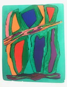 František Hodonský prodej litografie Podzimní-břehy-70-50cm