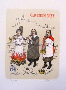 Jiří Slíva prodej grafiky Old czech jazz
