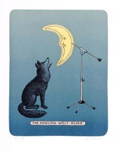Jiří Slíva prodej grafiky The Howling Wolf Blues