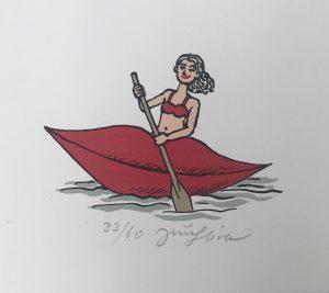 Jiří Slíva prodej litografie Paddle-pussy-33-60