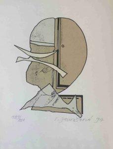 Věra Janoušková prodej litografie Hlava-97-40-30cm web
