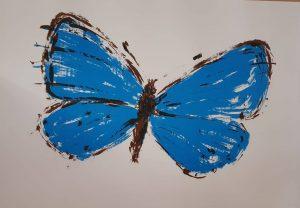 Jaku Špaňhel litografie Modrásek 50-70cm