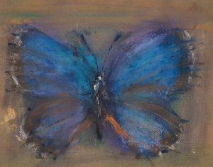 Jakub Špaňhel prodej obrazů Modrásek 80-100cm